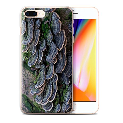 Stuff4 Hülle / Case für Apple iPhone 8 Plus / Pilze Muster / Pflanzen/Blätter Kollektion Fungus