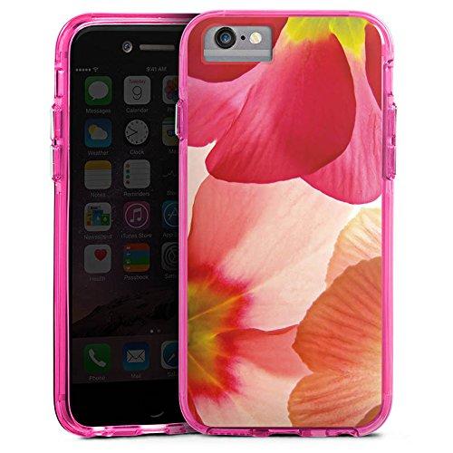 Apple iPhone 6 Bumper Hülle Bumper Case Glitzer Hülle Flower Blume Pink Bumper Case transparent pink