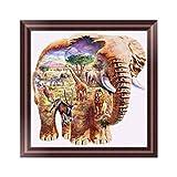 DIY Diamond Painting 5D Embroidery Painting Rhinestone Cross-Stitching Set Elephant Pattern