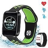 MTJJ Fitness Watch Activity Tracker Smartwatch con Cardiofrequenzimetro Contapassi Calorie Sportivo Monitor del Sonno IP67 Impermeabile Orologio per Donna Uomo Bambino con iOS Android (Verde)