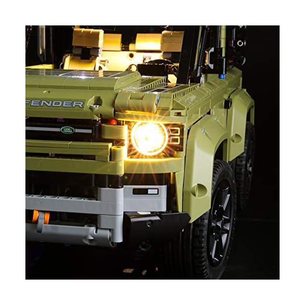 BRIKSMAX Kit di Illuminazione a LED per Lego Technic Land Rover Defender,Compatibile con Il Modello Lego 42110… 5 spesavip