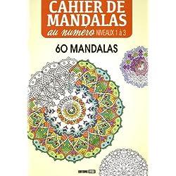 Cahier de mandala au numero - niveaux 1 a 3