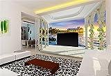 Benutzerdefinierte 3D Fototapete Europäische Balkon Insel Sonnenaufgang Sea View 3D Schlafzimmer Wohnzimmer Tv Hintergrund Wandbild Tapete