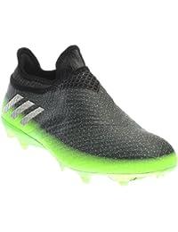 new arrival 36304 17728 adidas Messi 16+ Pureagility FG Techfit Socke Space Dust grün grau
