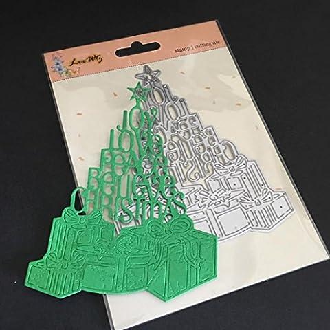 FEITONG Metall Cutting Dies Stanzformen Schablonen DIY Scrapbooking Album Papier Karte Weihnachten Halloween Handwerk (1pc, S:100x128mm)