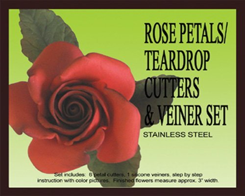 Rose Petal/teardrop Cutters & Veiners Set by PETAL CRAFTS Teardrop-cutter