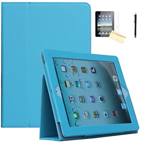 Air 2Hülle-jytrend (R) Folio Ständer magnetisch Smart Cover für Apple iPad Air (2013Version)/Air 2(2014Version) mit Auto Wake/Sleep, Blau ()