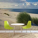 Sylt Strand Meer Sand - Forwall - Fototapete - Tapete - Fotomural - Mural Wandbild - (655WM) - XXL - 312cm x 219cm - VLIES (EasyInstall) - 3 Pieces