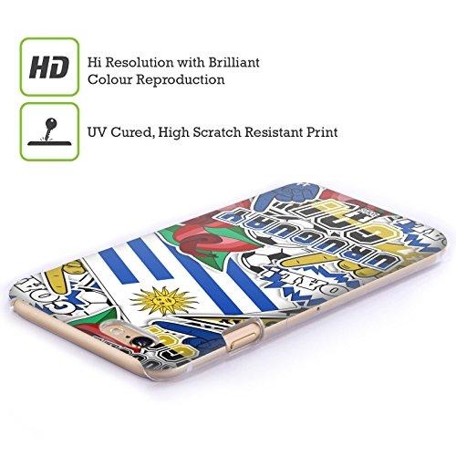 Head Case Designs Francia Calcio Icone Dei Paesi Cover Retro Rigida per Apple iPhone 7 Plus / 8 Plus Uruguay