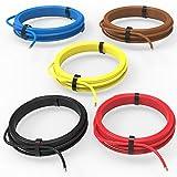 Auprotec® Câble unipolaire 0.75 mm² Fil Électrique: Set 5 couleurs á 10m...