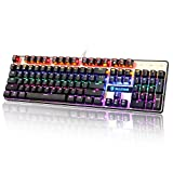 Sades K10 LED retroilluminato cavo USB meccanica Gaming tastiera Pannello metallico con interruttori...