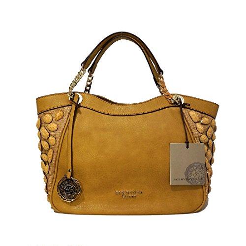 SCERVINO Street Small Double Handle Bag MARGUERITE Tan