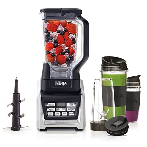 Nutri Ninja 1500W Blender Duo with Auto iQ BL642UK [inc 2.1L Pitcher & 3 x Tritan Cups]