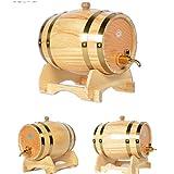 Holzeiche Fässer Fässer Holzfässer Weinfässer Weinfässer Dekorative Weinfässer Bierfässer 5L,Brass