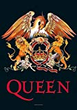 new Officially Liscenced Product Queen Poster classic Crest logo Nue offiziell Textile 75cm x 110cm