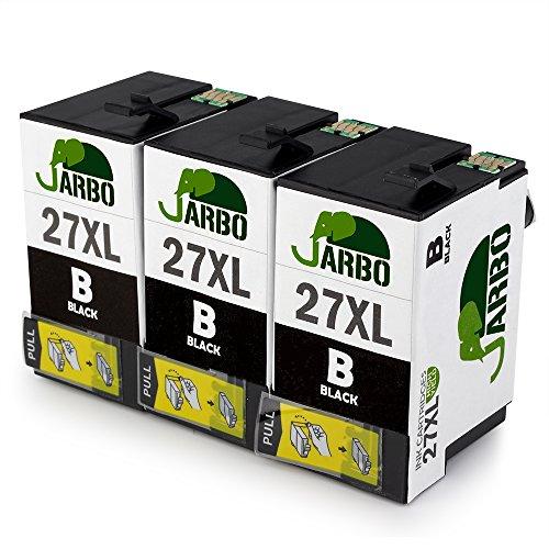JARBO 27XL 3 Nero Sostituzione per Epson 27 XL Cartucce d'inchiostro Alta Capacità Compatibile con Epson WorkForce WF-7610 WF-7620 WF-3620 WF-3640 WF-7110 WF-7710 WF-7715 WF-7720 WF-7210