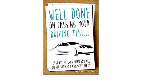 and not Large Personalised Card You/'ve Passed your Driving Test for Ladies