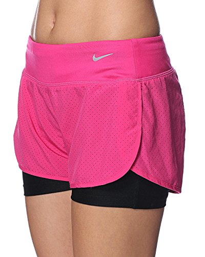 Beinkleid perforated rival nike short 2 en 1 pour femme pink