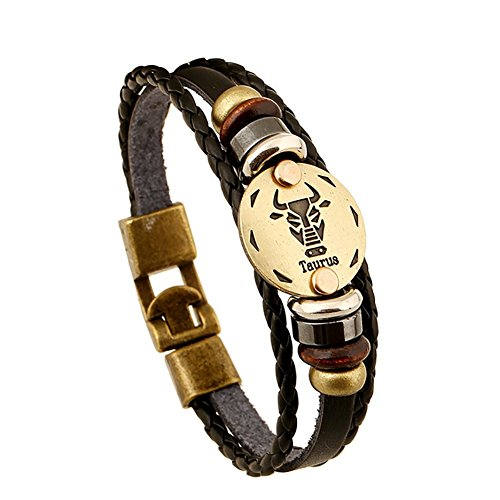 soleebee-unisexe-rsstro-punk-douze-du-zodiaque-signe-bracelet-en-alliage-en-cuir-taurus