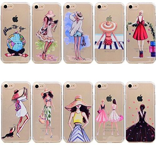Mobiltelefonhülle - Für iPhone 7 Bestie Muster Soft TPU Schutzhülle ( SKU : Ip7g5351h ) Ip7g5351a