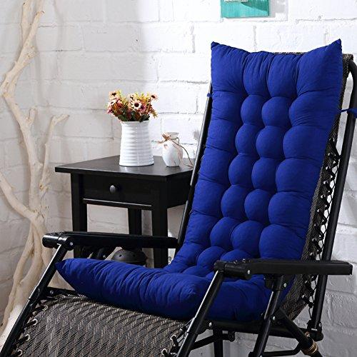 Rocking Stuhlkissen,verdicken Liege Stuhlpolster Terrasse Hoch Zurück Kissen Chaise Lounge Sitzkissen Für Indoor Outdoor Ohne Stuhl-blau 125x48cm(49x19inch) - Für Die Chaise Lounge Terrasse