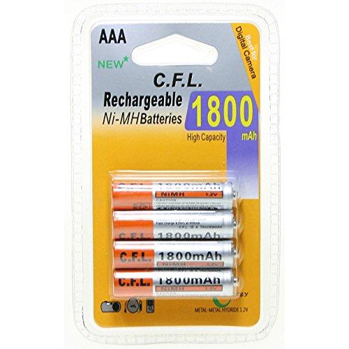 CFL - Blíster de 4 pilas recargables AAA Ni-MH (1800mAh)