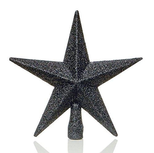 Schwarz Weihnachtsbaumspitze, Stern, Glitzer-Optik, 20 (Star Dress Fancy Girl)