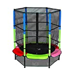 We R Sports XtremeBounce© Multicolour Junior Edition Trampoline with Safety Net Enclosure -...