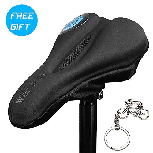 icocopro Ultra Weich Bike Gel Sitz Premium gepolstert Bike Sattel Bike Sattel Kissen für Spin Klasse oder Outdoor Radfahren mit Cooles Design, Herren, 3AWJ-YP0801088-Blue, blau