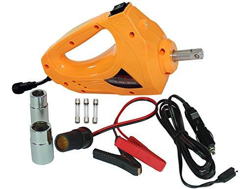 YASI MFG KFZ Clé à chocs électrique 12 V 480 N.M avec douilles 17/19 m et 21/23 mm Jaune