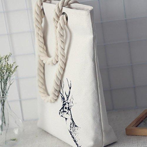 Zarupeng Frauen Mori Art Handgemalte Segeltuch Taschen Kapazitäts Schulter-Beutel A