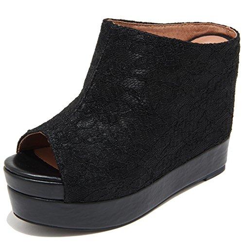 7791I sandali zeppe neri JEFFREY CAMPBELL virgo scarpe shoes women Nero
