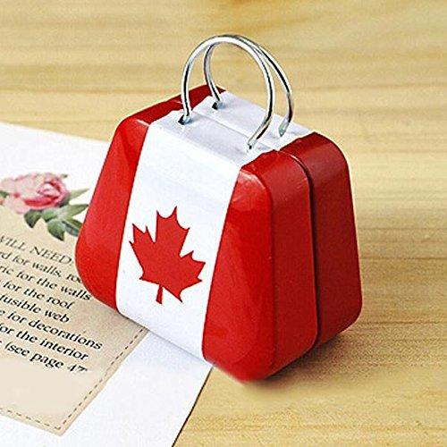 Bluelover Mini Kleine Zinn-Münzkassette-Geldbeutel-Kasten-Schmucksache-Tee-Storage Box kanadische Flagge -