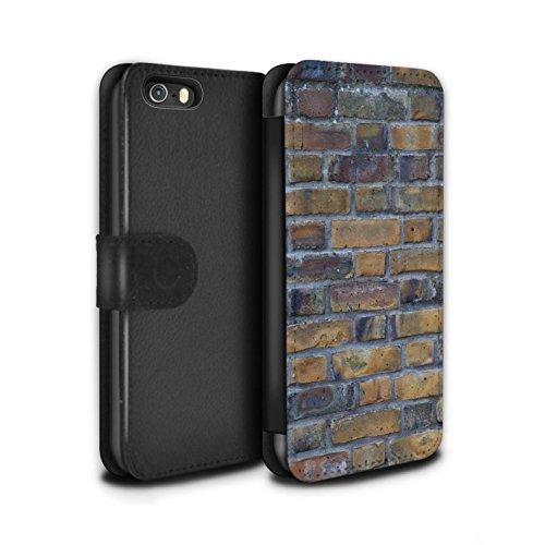 Stuff4 Coque/Etui/Housse Cuir PU Case/Cover pour Apple iPhone 5/5S / Silex / Pierre Design / Maçonnerie Collection Ancien/Jaune
