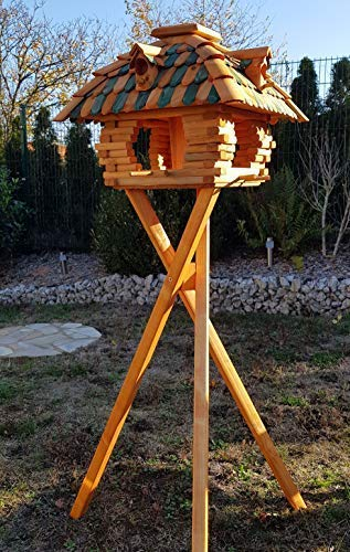 holzdekoladen Vogelhaus mit Nistkasten Typ 12.1 (mit Ständer)