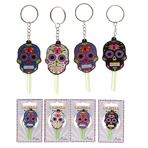 Fun Novelty Day of the Dead Skull PVC Key Cover