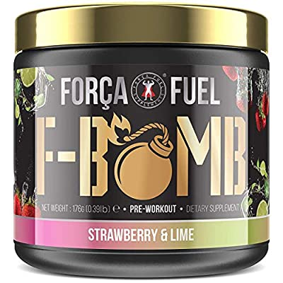 Pre Workout | Build Muscle | Burn Fat | Increase Strength and Performance | Enhance Focus | Reduce Fatigue | 250mg Caffeine | 6,000mg L-Citrulline | 3,500mg Beta-Alanine | Força Fuel F-Bomb from Força Fuel Supplements