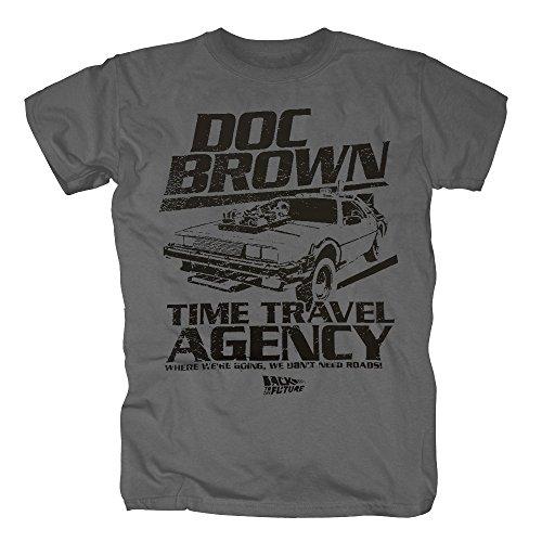 TSP Zurück in die Zukunft - Doc Brown Acency T-Shirt Herren S Dunkelgrau