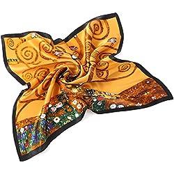 Prettystern Señoras pañuelo de seda Gustav Klimt pañuelo Art Nouveau Lámina P813 Árbol de la vida