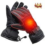 Mermaid Elektrische Beheizbare Handschuhe für Herren Damen Winterhandschuhe mit Wiederaufladbare Lithium-Ionen-Batterie Beheizt 3.7V