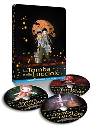 La Tomba delle Lucciole Steelbook (Collectors Edition) ,1 Blu Ray + 2 DVD
