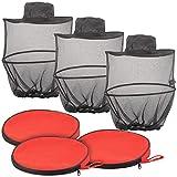 Semptec Urban Survival Technology Moskitohüte: 3er-Set kompakt Faltbare Hüte mit Moskitonetz, 300 Mesh, schwarz (Imkerhüte)