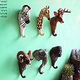 Here&There Haken Kinderzimmer Kinder Badezimmer Kleiderhaken Animals Wandhaken Junge und Mädchen Kind Wandgarderobe (Hirsch)