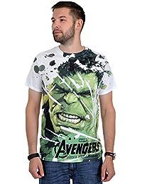 Avengers T-Shirt Age of Ultron Hulk Marvels Superhelden Shirt weiß