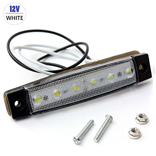 AST Works 12V 6LEDs Side Marker Light Trailer for Car Truck Boat Bus Indicator RV Lamp Kit