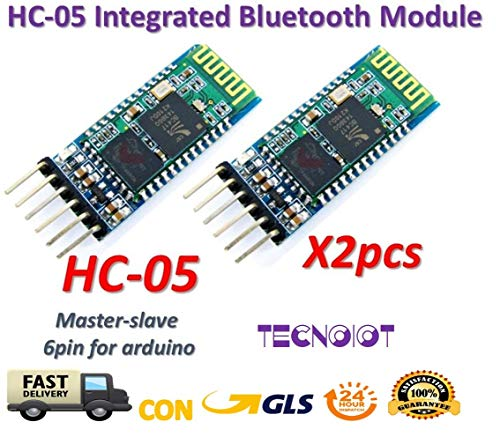 TECNOIOT 2pcs HC-05 Integrated Bluetooth Module Wireless