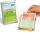 Baby Meilenstein Karten fürs erste Lebensjahr - Ideal als Geschenk zur Geburt oder in der Schwangerschaft - Meilensteinkarten Baby Cards für Jungen & Mädchen - Deutsch (kleines Set)