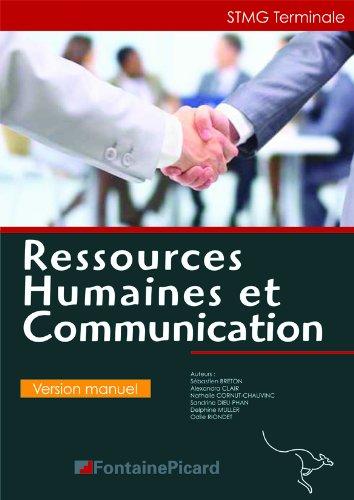 Ressources humaines et communication Tle STMG par Collectif