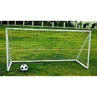 Charles Bentley Portería fútbol 2,4 x 1,2 m portátil de plástico ABS para niños blanca con red incluida