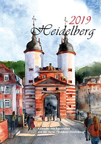 Kalender Heidelberg 2019 Aquarelle